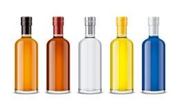 Mockup bottles of alcoholic beverages Stock Images