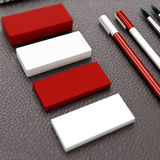 Mockup business card template. High resolution. 3d render royalty free stock photo