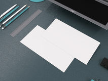 Mockup business card template. High resolution. 3d render royalty free stock photos
