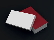 Mockup business card template. High resolution. 3d render stock image