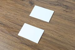 Mockup Business card top view Template for branding identity. Concept royalty free stock photography