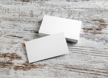Mockup of business cards royalty free stock photo