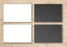 Blank business cards. Mockup of business cards. Template for branding identity royalty free stock photo