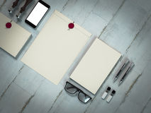 Mockup business template. Template business for branding. High resolution. 3D Stock Photos