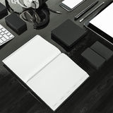 Mockup business template. High resolution. Royalty Free Stock Image