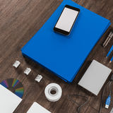 Mockup business template. High resolution. Royalty Free Stock Photo