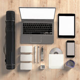 Mockup business template. High resolution. Stock Image