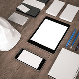Mockup business template. High resolution. Mockup business template. Documentation for business. High resolution. 3D render stock photography