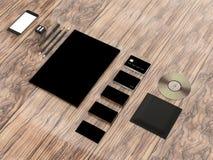 Mockup business template. Premium. High resolution. 3D render stock illustration