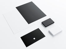 Mockup business template set on white background