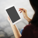 Mockup Copy Space Blank Screen Concept stock image