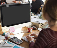 Mockup Copy Space Blank Screen Concept Stock Photo