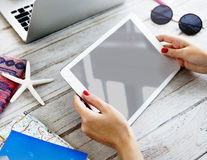 Mockup Copyspace Digital Tablet Searching Concept Stock Photos