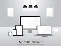 Mockup of digital devices for business. Stock Image