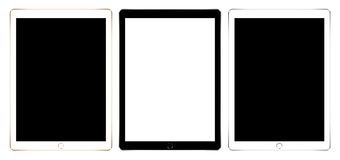 Mockup digital tablet collection set isolated on white vector design. Mock up digital tablet collection set isolated on white vector design Stock Image