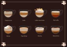 Mockup dla menu kawowy dom, kawiarnia 3 royalty ilustracja