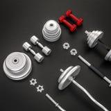 Mockup fitness elements. Bodybuilding. Royalty Free Stock Photography