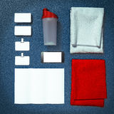 Mockup fitness elements. Bodybuilding. Stock Photography