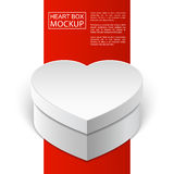 Mockup heart box red line-01 Stock Photo
