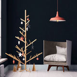 Mockup interior with Christmas tree and armchair. Mockup interior with armchair . 3d Stock Photos