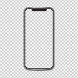 Mockup iPhone x screen and background have png  isolated on background.
