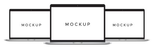 Mockup mac book isolated on white background vector illustration