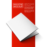 Mockup magazine red line6-01 Stock Photo
