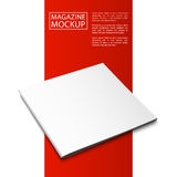Mockup magazine red line8-01 Royalty Free Stock Photos