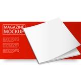 Mockup magazynu czerwień line12-01 Obraz Royalty Free