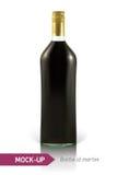 Mockup martini bottle Stock Photos