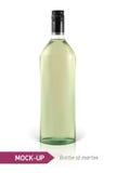 Mockup martini bottle Royalty Free Stock Photo