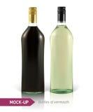 Mockup martini bottle Stock Photography