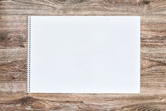 Mockup of open album with blank white page. Gorizontal orientation Stock Image