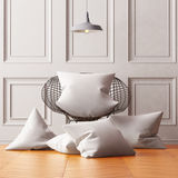 Mockup pillows in the interior. 3d Royalty Free Stock Images