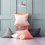 Mockup pillows in the interior. 3d Royalty Free Stock Photography