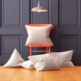 Mockup pillows in the interior. 3d Royalty Free Stock Image