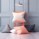 Mockup pillows in the interior. 3d Stock Image