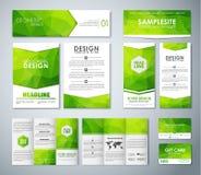 Mockup polygonal corporate identity Stock Images