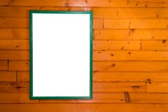 Mockup poster with green frame stock images