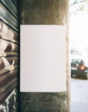 Mockup poster on the wall Royalty Free Stock Photography