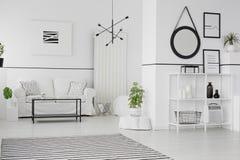 Mockup in scandinavian living room royalty free stock image