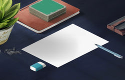Mockup scene, paper blank with decoration. For placing your design Royalty Free Stock Image