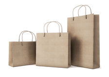 Mockup set of cardboard packages for purchases of different size Royalty Free Stock Photo