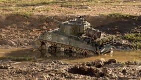 Mockup of a sherman tank Stock Image