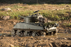 Mockup of a sherman tank Stock Images