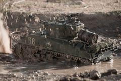 Mockup of a sherman tank Royalty Free Stock Image