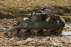 Mockup of a sherman tank Royalty Free Stock Photos
