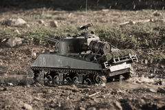 Mockup of a sherman tank Stock Photography