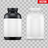 Mockup Sport Vitamin Container. Royalty Free Stock Image