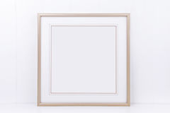 Mockup styled stock photography with square gold frame Royalty Free Stock Photos